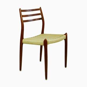 Danish Teak Model 78 Dining Chairs by Niels Otto Möller fot J. L. Møllers, St of 4