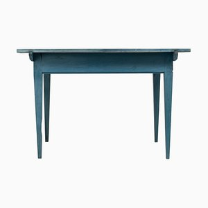Blue 19th Century Swedish Gustavian Country Table or Desk