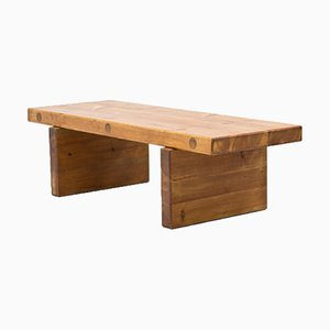 Solid Pine Bench Table by Roland Wilhelmsson for Karl Andersson & Sons, Sweden, 1970s