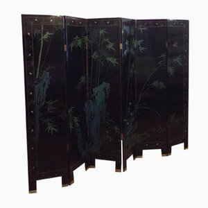 Chinese Coromandel Six-Panel Lacquered Room Divider