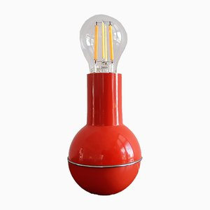 Red Culbuto Table Lamp from Lamperti, Italy, 1970s