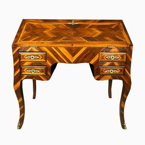 Louis XV Office Desk with Wood Marquetry