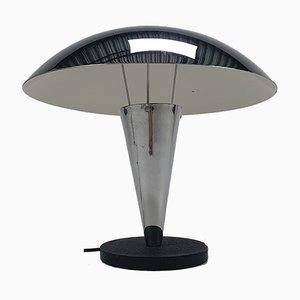 Vintage Chrome Plated Mushroom Table Lamp, 1970s