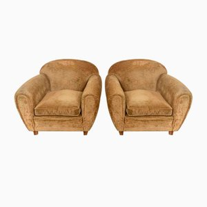 Armchairs with Circular Scrivling by Pier Luigi Colli, Set of 2