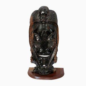 Hölzerne afrikanische Maske, 20. Jh