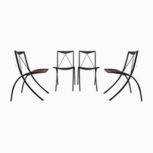 Folding Chairs from Cattelan Italia, 1980s, Set of 4