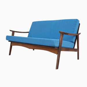 Modernes skandinavisches Mid-Century 2-Sitzer Teak Sofa, 1960er