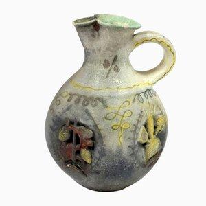 Dreher Malt Hungarian Handmade Ceramic Beer Pitcher by Geza Gorka, 1930s