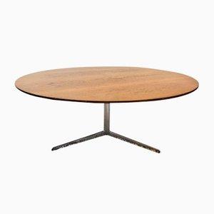 Table Basse Modèle Fh 3512 en Teck et Aluminium par Arne Jacobsen pour Fritz Hansen