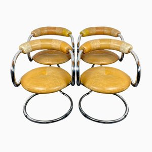 Vintage Dining Chairs from Tecnosalotto Bancole Mantova, Italy, 1970s, Set of 4