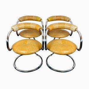 Vintage Esszimmerstühle von Tecnosalotto Bancole Mantova, Italien, 1970er, 4er Set