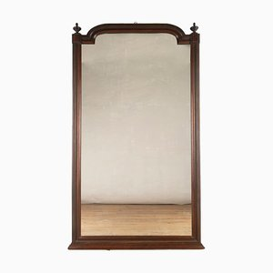 Französischer Spiegel mit Rahmen aus Mahagoni, 19. Jh