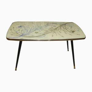 Coffee Table with Glass Plate and Butterflies, 1950s