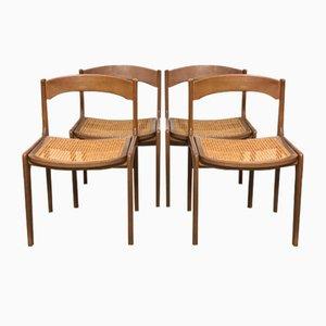 Skandinavische Stühle, 1960er, 4er Set