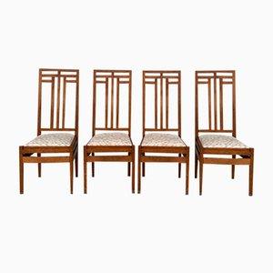 Hague School Art Deco Dining Chairs by Cornelis Van Der Sluys, Set of 4
