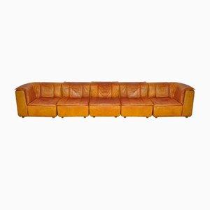 Vintage Modular Leather Sofa, 1970s