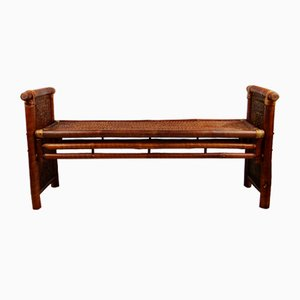 Bamboo and Rattan Bench