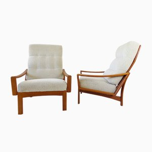 Teak Armchairs by Grete Jalk for Glostrup, Set of 2