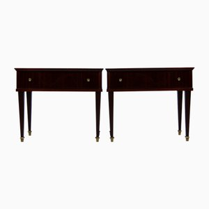 Tables de Chevet Acajou, 1950s, Set de 2