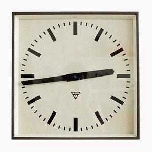 Industrial Czechoslovakian Station Clock from Pragotron, 1970s