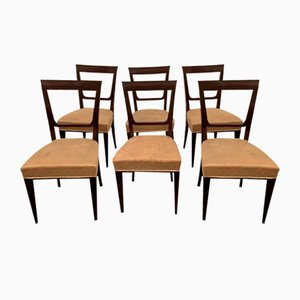 Art Deco Chairs in Rosewood, Set of 6