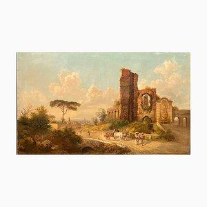 Paisaje Grand Tour en Roma, siglo XIX, Jakob Alt