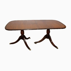 Mahogany Dend Dining Table with One Leaf, 1960s