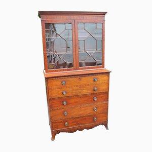 Mahogany Secretaire or Bookcase, 1880s