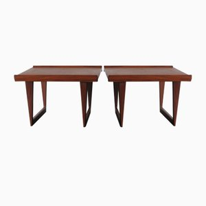 Scandinavian Teak Tables by Peter Løvig Nielsen, Denmark, 1950s, Set of 2