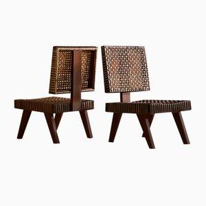 Sessel von Pierre Jeanneret, 1950er, 2er Set