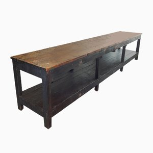 Large Industrial Work Table, 1940s