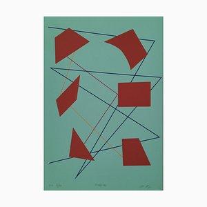 Mario Nigro, Elementi Spaziali, 1948/1983, Serigraph