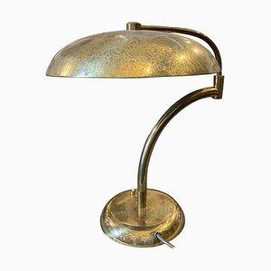 Mid-Century Italian Modern Solid Brass Table Lamp by Angelo Lelli