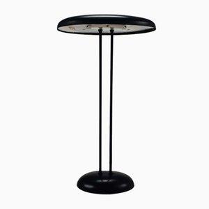 Black Postmodern Halogen Desk Lamp, 1980s