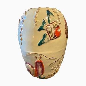 Italian Handcrafted Polychrome Ceramic Vase, 1950s