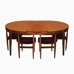 Roundette Dining Set by Hans Olsen for Frem Røjle, Set of 5