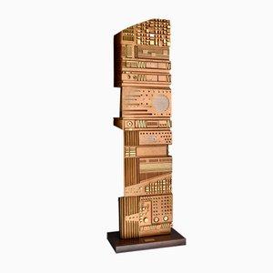 Italienische Holzskulptur von Gianni Pinna, 1981
