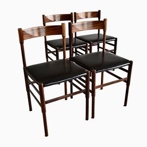 Mid-Century Modern Rosewood Dining Chairs, Set of 4