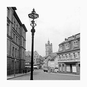 Street Scene Darmstadt View to Stadtkirche Church, Germany, 1938, Printed 2021