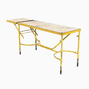 French Army Industrial Yellow Table, 1960s