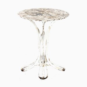 Sculptural French Gueridon Small Round Outdoor Table, 1950s