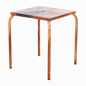 Model 836.3 French Metal Garden Table in Red, 1950s