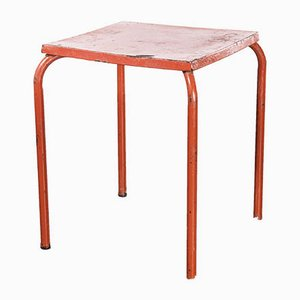 Model 836.7 French Metal Garden Table in Red, 1950s