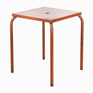 Model 836.1 French Metal Garden Table in Red, 1950s