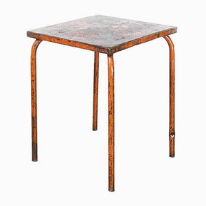 Model 836.5 French Metal Garden Table in Red, 1950s