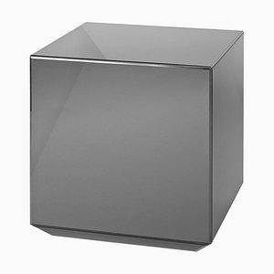 Black Glass Mirror Table