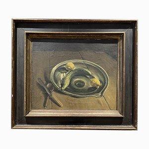Still Life Oil Painting by Leonard Huskinson, 1923-1925