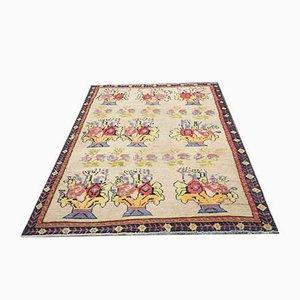 Turkish Vintage Area Handmade Wool Carpet