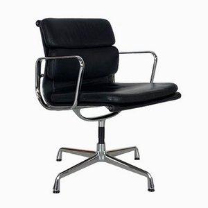 Chaise Group Soft Pad en Cuir Noir par Herman Miller pour Vitra