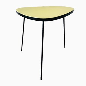 Mid-Century Yellow and Black Side Table on Tripod Legs, 1960s